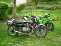 A Z900 ugyan távoli rokon, de mégis ez volt az első szériában gyártott motorkerékpár, amely 200 km/h feletti végsebességet tudott.