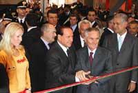 Silvio Berlusconi megnyitja a kiállítást